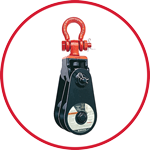 409 Snatch Block with Shackle - Double Sheave