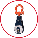 419 Snatch Block with Shackle - Single Sheave