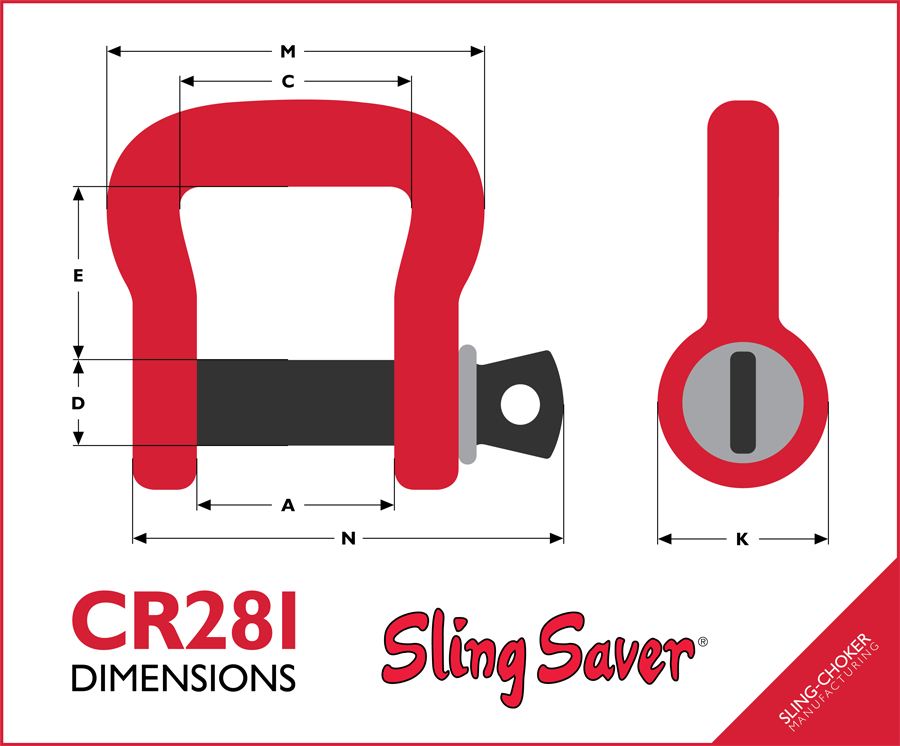 CR281 Shackle Dimensions